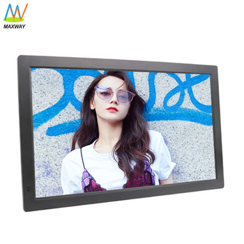 high definition 19-inch lcd display digital photo frame with usb drive download