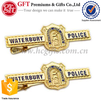 Custom Promotions Gold Tie bar Souvenir Gifts Tie Clips GFT-TC46