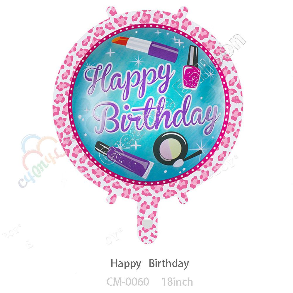 CYmylar Hot Sale Female Girl Happy Birthday Party Decoration Balloon Foil Mylar Nail Polish Lipstick Bachelorette