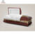 Inexpensive noble design funeral supplier cherry finish american coffin