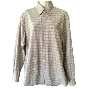 OEM new fashion cotton blend tartan shirt mens gents classic shirt cotton plaid check casual