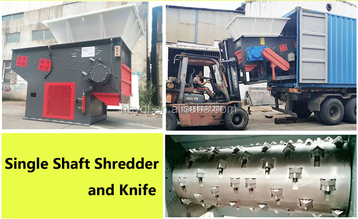 single shaft Oil Palm EFB  / Coconut husk chipping Shredding machine/ shredder machine  for fiber extracting