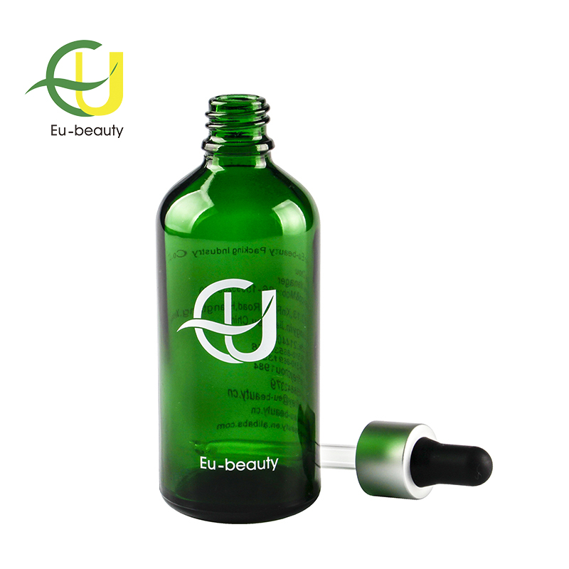 100ml green glass essential oil bottle dropper bottle