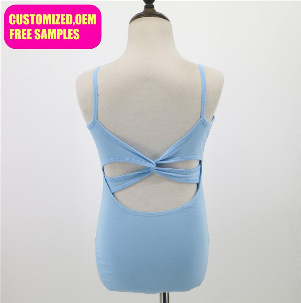 8b40a8dbae65 Wholesale Sexy Camisole Twisted Crossed Back Kids Girls Ballet Dance ...