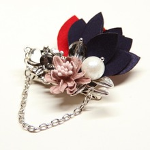 New Korean Man & Woman Fabric Flowers Brooch Pins Handmade Big Corsage Suits Accessories Multilayers Brooches Fashion Jewelry