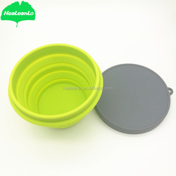 Healeanlo Silicone Folding Bowl Outdoor Products Collapsible Camping And Covers