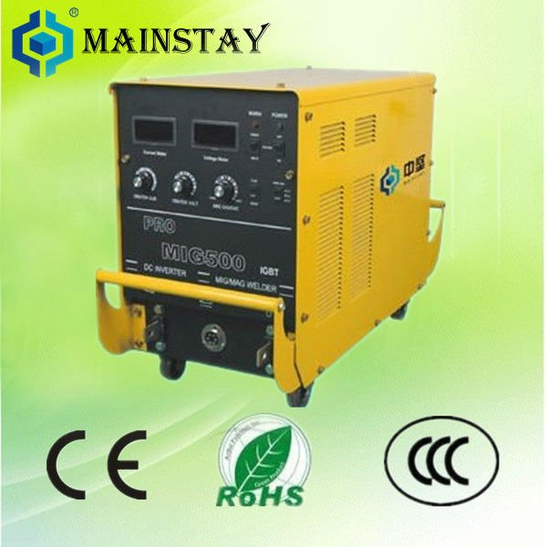 outdoor use high quality gasless mig welder MIG500