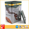 High quality empty double lid tea tin with window