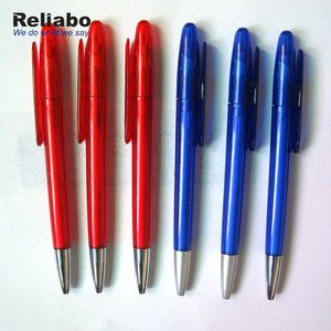 Reliabo Custom Promotional Logo Printed Plastic Clip Ball Pen