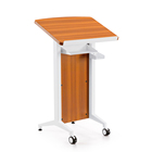 modern speech desk/lecture table podium rostrum cherry veneer