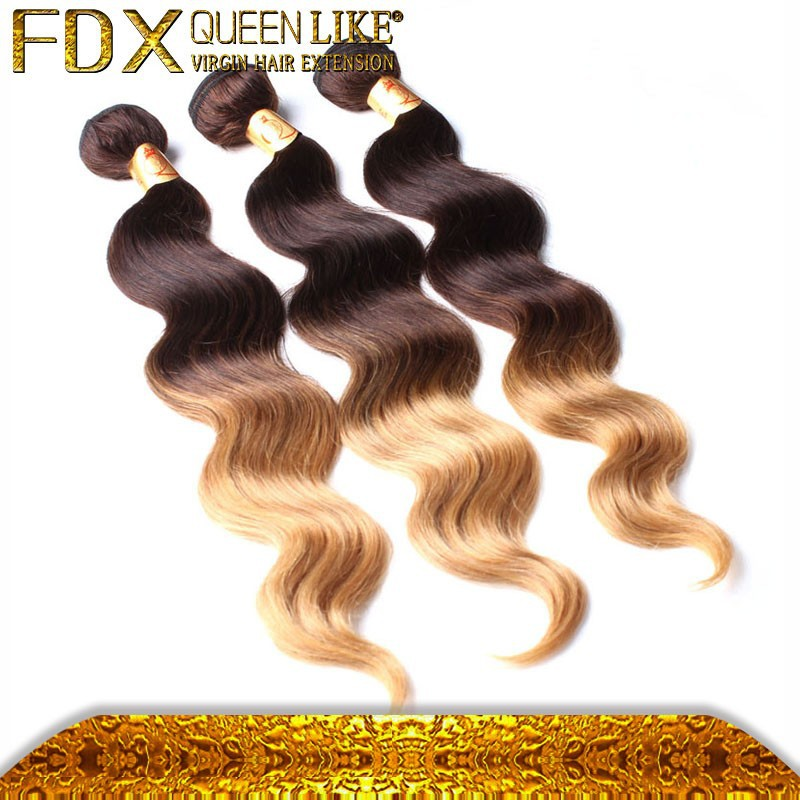 Remy hair brand names sell best colored two tone hair weave
