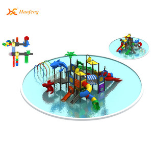 wholesale commercial water slide water park equipment manufacturer plastic garden water games for kids and adults HF-G136B