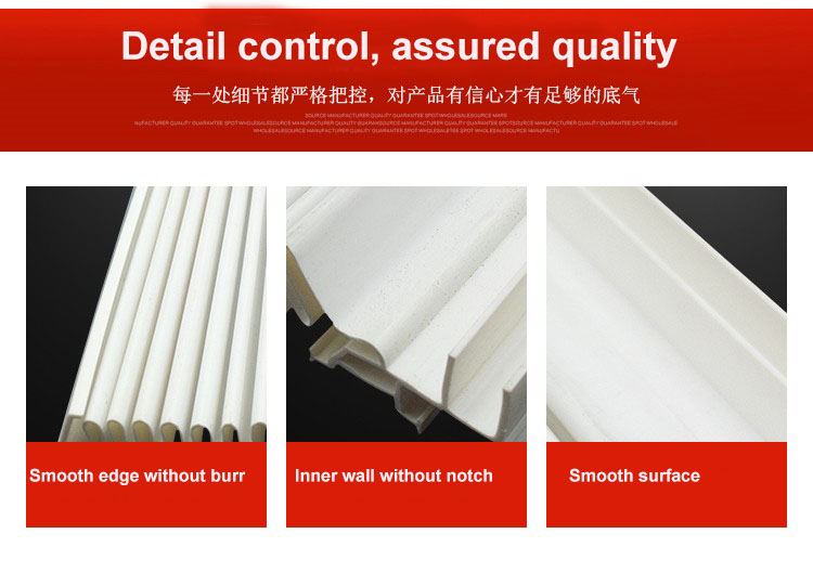 Extruded plastic profiles PVC profiled Window shades shutter blinds louver window for Outdoor air conditioner