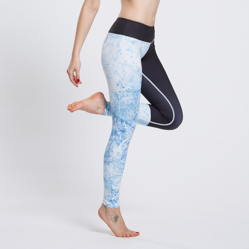 Lady High Waist Yoga Leggings Stretch Fitness Workout Sports Gym Pants Trousers