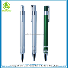 Cheap promotional gift anodized aluminum pen with logo printing