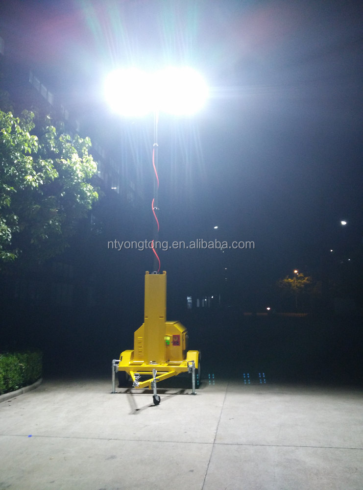 Mobile Lighting Tower With Ge Led Flood Light