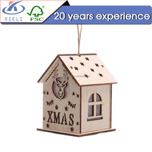 XL249 House shape wooden craft office decoration cheap promotion wedding small gift