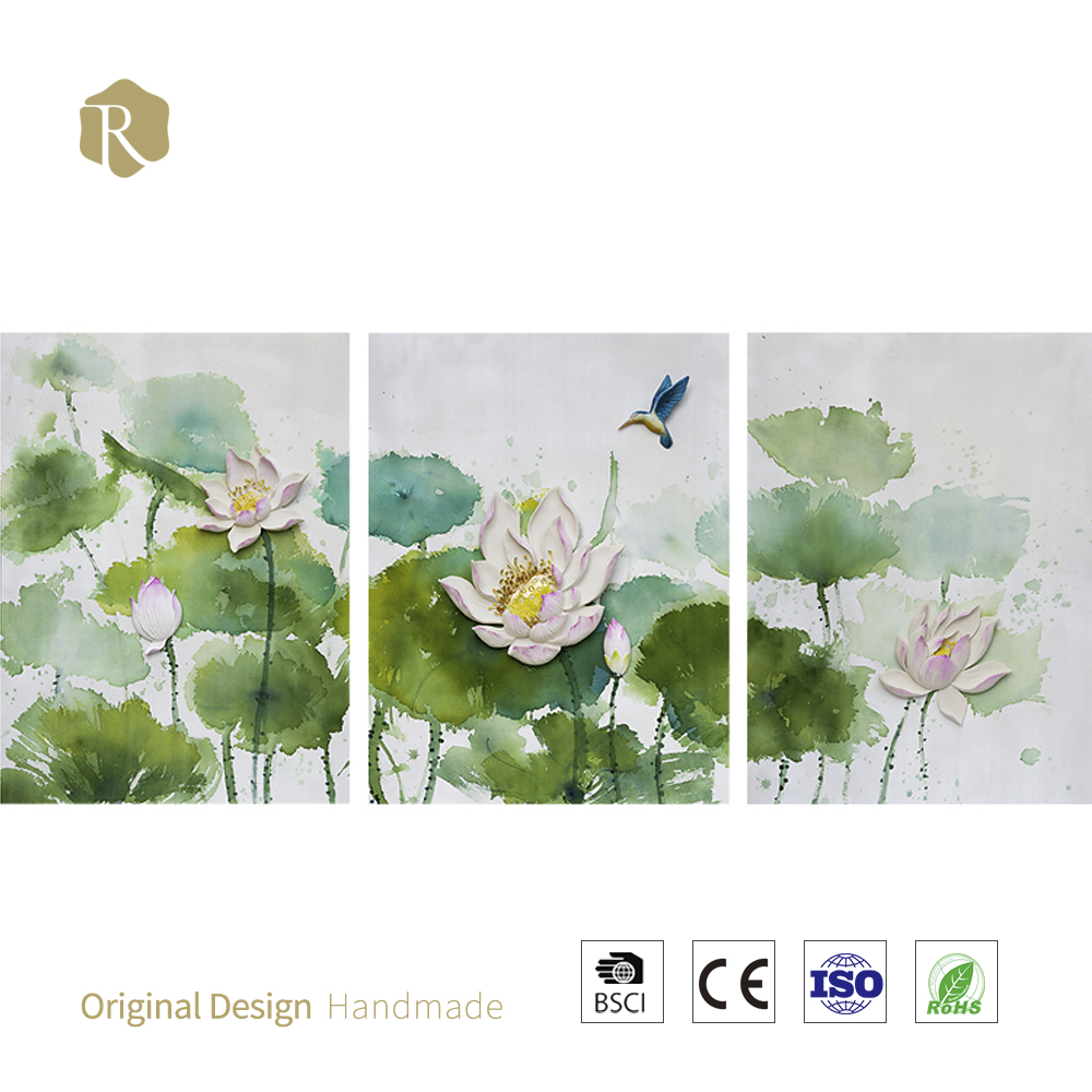 Lotus Pond Oil Painting Lotus Pond Oil Painting Suppliers And