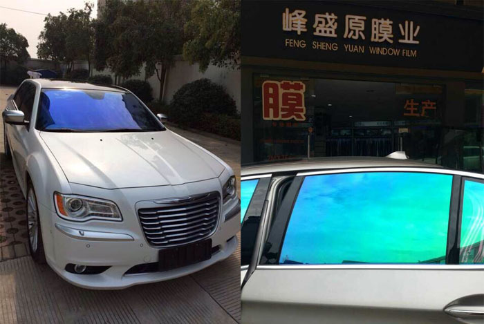 Factory price heat rejection color changing vinyl mirror car window tint