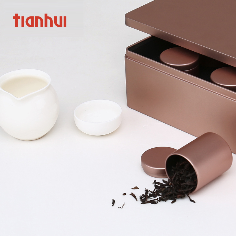 Aluminum tin canisters custom candy tea metal tin box packaging wedding favors