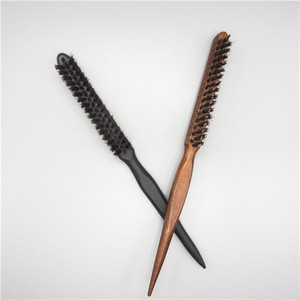 Professional Tease Nylon Bristle Back Comb Brush Wooden and Rubber Teasing Comb