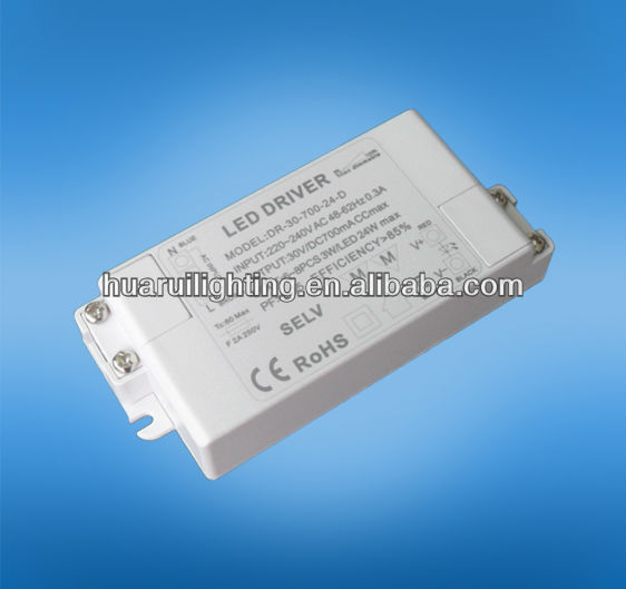 triac dimmable led driver 350MA 24W converter transformer working with led lamps