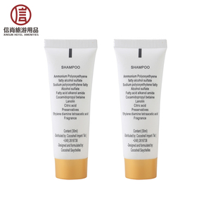 Hotel Shampoo Packaging Tubes Hotel Amenities Packaging Bottles for Shampoo
