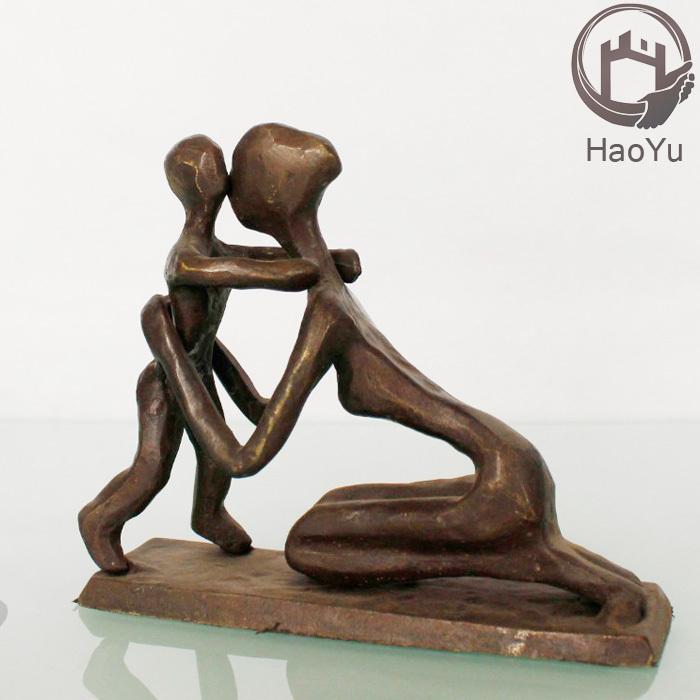 De moeder en zoon beeldjes gietijzer metalen kunst en kunstnijverheid voor huisdecoratie metaal - Afbeelding van huisdecoratie ...