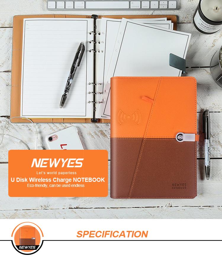 Newyes ออกแบบใหม่ธุรกิจ Luxury USB Flash Disk Smart Erasable โน้ตบุ๊ค Powerbank
