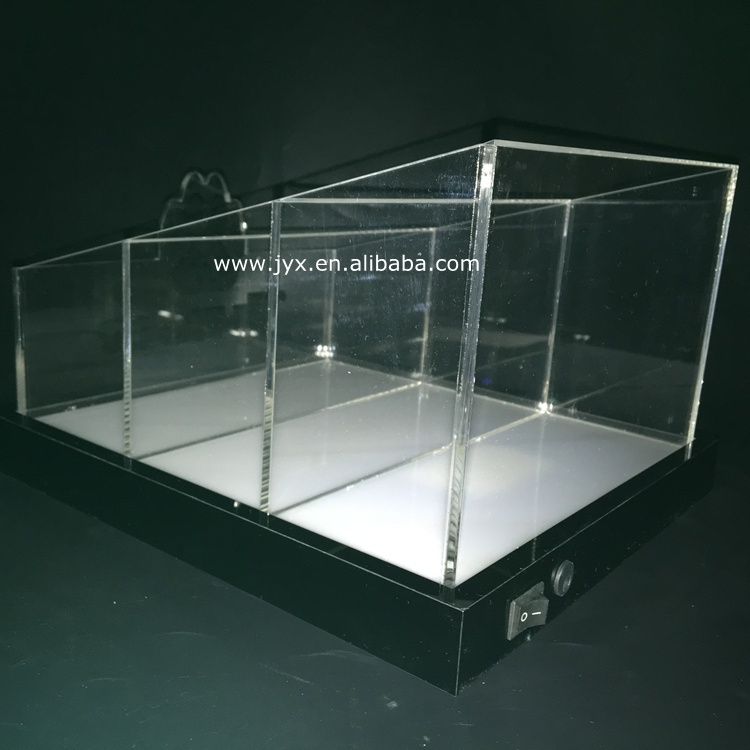 Illuminated acrylic display box for beer used in bar with led light