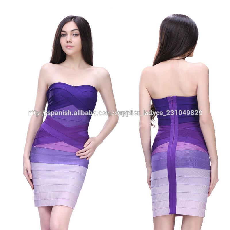 de diseño único atractivo de las señoras vestido de noche corto ...