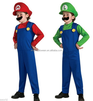 High Quality Halloween Fancy Dress Costumes Cosplay Luigi And Mario Brothers FC2259