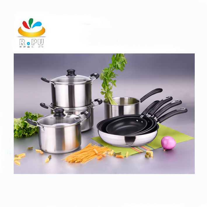 2018 new products wholesale pots and pans stainless steel cooking pot t-304 cookware