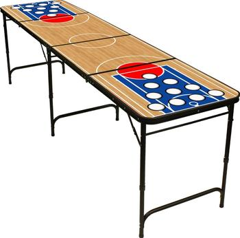 Party Drinking Customized 8ft Beer Pong Tables Aluminum Folding Table