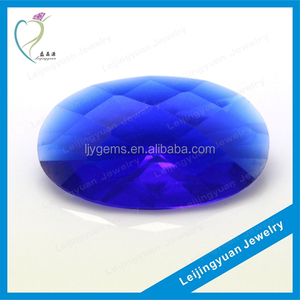 AAA Oval Checkerboard Cut Blue Gemstone Names