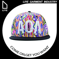 top quality unique decorative 3D letter embroidery logo snapback cap wholesales manufacturer