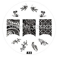 2015 new A Series A33 Nail Art Polish DIY Stamping Plates Image Templates Nail Stamp Stencil