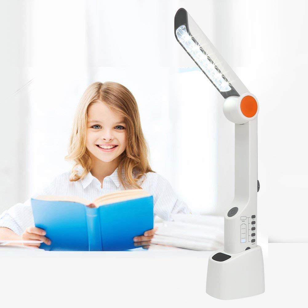 Vbestlife Solar Powered LED Desk Lamp,Multi-use Hand Cranking Charging Light Lamp Torch Light Flashlight Emergency Phone Charger with FM Radio