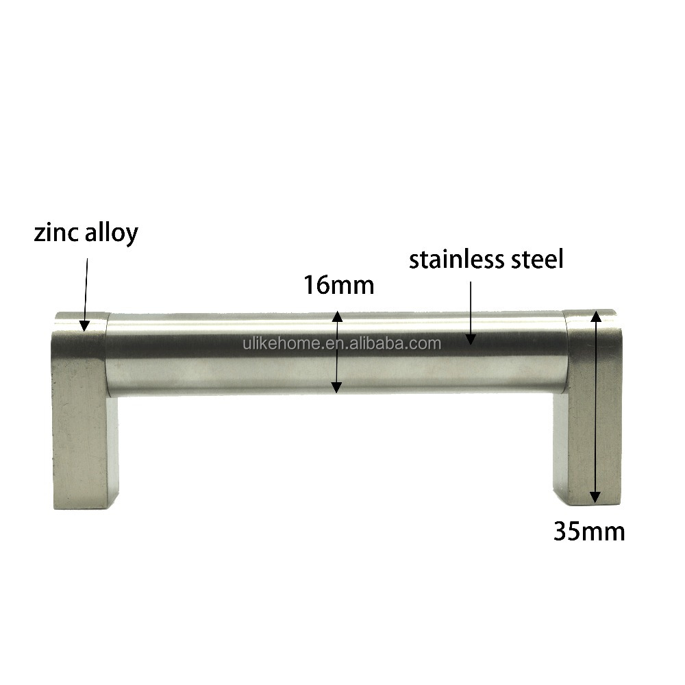 Cabinet Kitchen Drawer Handle Stainless Steel Round bar Furniture Pull