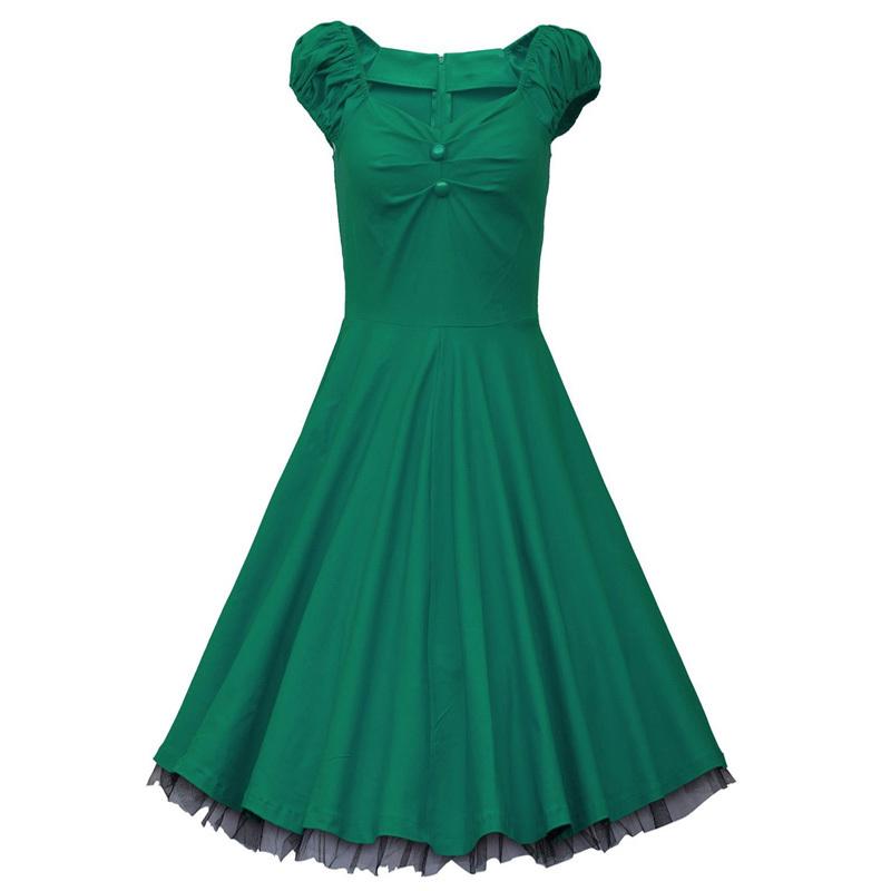 5ba26dc52f New 2015 Women Summer 1950s Vintage Retro Casual Dress Ladies Polka Dot  Elegant Tunic Evening Party Swing Dresses