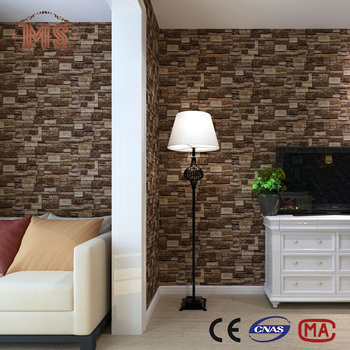 3d Stone Design Pvc Deep Embossed Wallpaper For Drawing Room