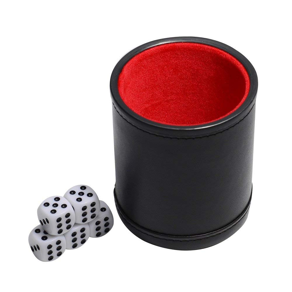 Professional Dice Cup With Five Dice