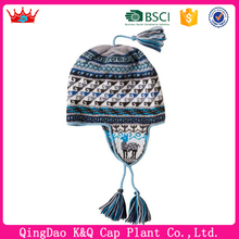 High Quality Peruvian Alpaca Chullo Knitted Hats With Earflap