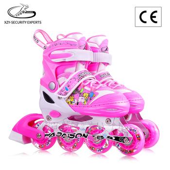 XYZ-608P kualitas tinggi pink sepatu roda PU roda sepatu roda untuk anak-  anak d7173dd898