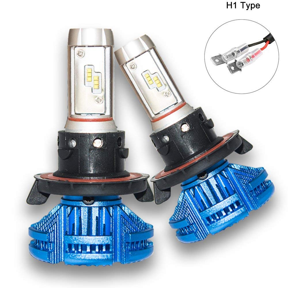Superbleds High Power X3 LED Car Headligtht,2pcs/set,76W 3800LM 6000K,Cool White CREE Bulb, H1 H3 H4 H7 H11 H13 9004 9005 9006 9007 880/881 Base,3 Years Warrant for Universial car (H1)