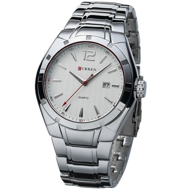CURREN 8103 Luxury Stainless Steel Strap Analog Display <strong>Date</strong> Men's Quartz Watch Casual Watch Men Watches