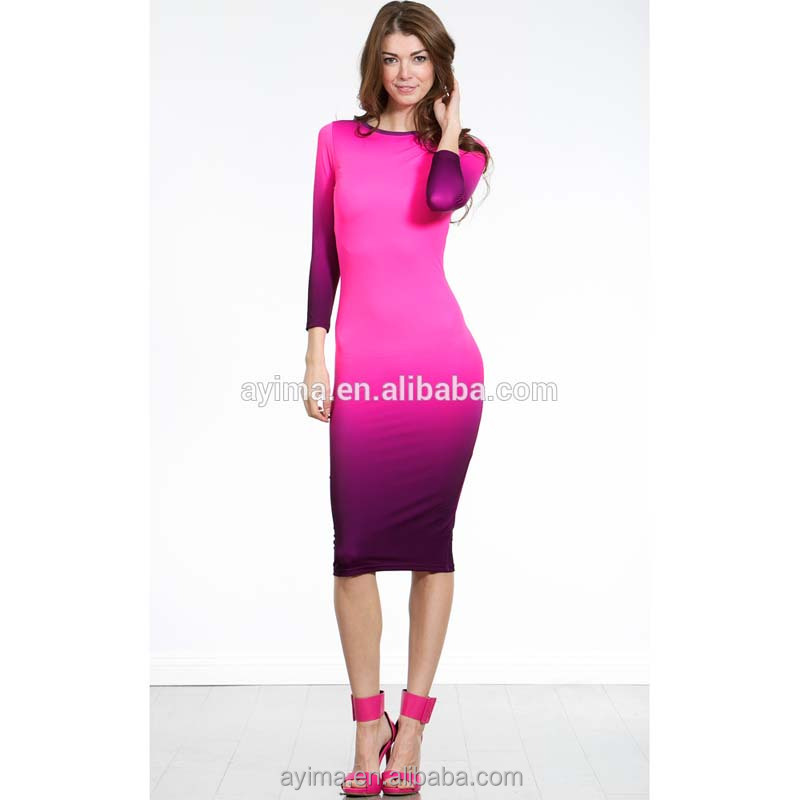 Ombre Bodycon Dress, Ombre Bodycon Dress Suppliers and Manufacturers ...
