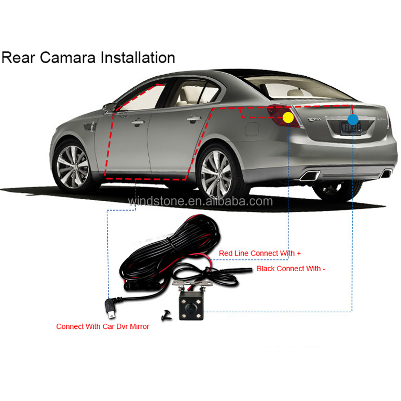 4.3 inch Monitor Mirror Car Driving Record with Parking Camera