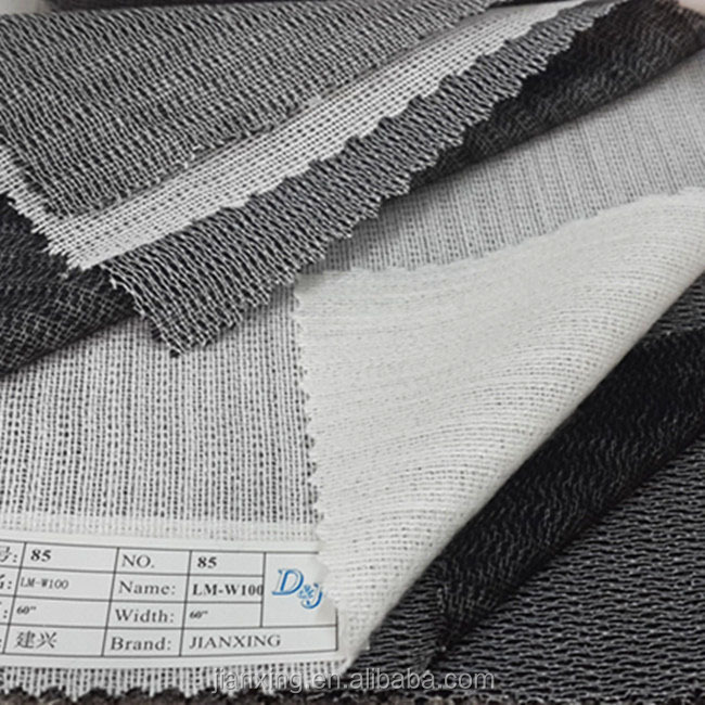 Eco-friendly tricot warp fusible knitted interlining for garment