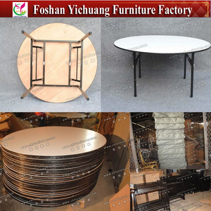 YC-T01-1 Folding round banquet table for wedding